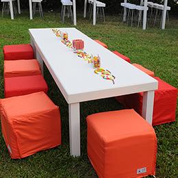 שולחן נמוך מאורך לבן 6