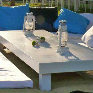 שולחן נמוך מאורך לבן 2